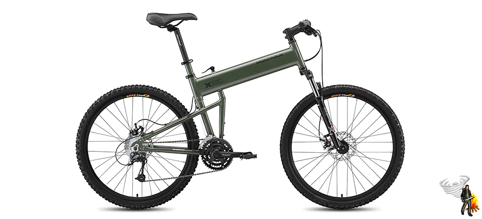 Survival bike on a white background